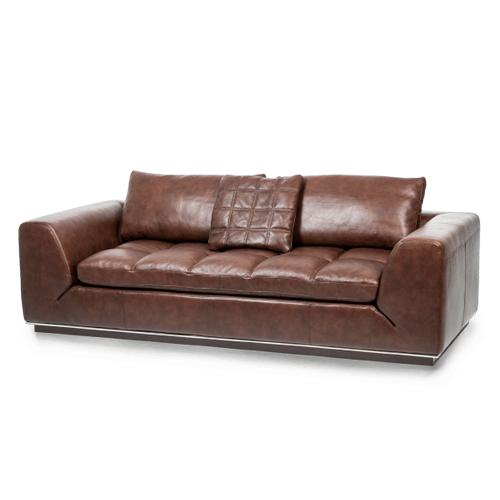 Rosato Leather Sofa in Cordovan Espresso