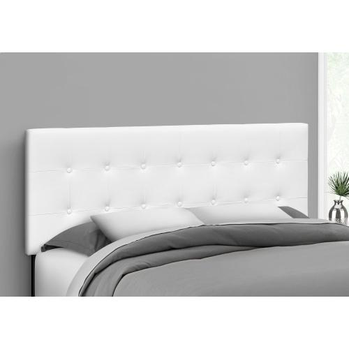 Gallery - BED - QUEEN SIZE / WHITE LEATHER-LOOK HEADBOARD ONLY
