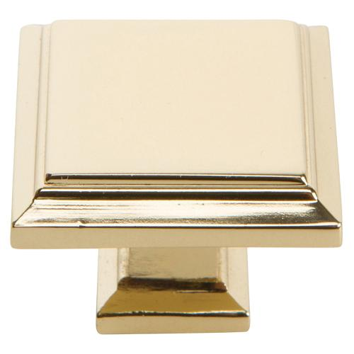 Atlas Homewares - Sutton Place Square Knob 1 1/4 Inch - French Gold