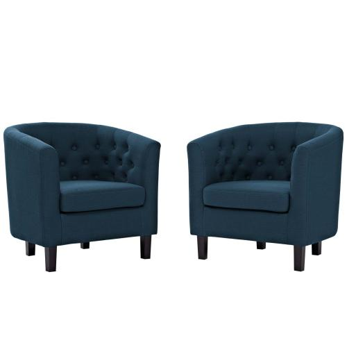 Prospect 2 Piece Upholstered Fabric Armchair Set in Azure