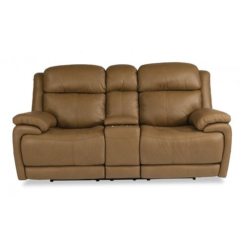 Elijah Power Reclining Loveseat with Console & Power Headrests & Lumbar