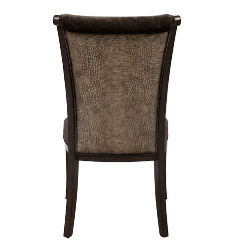 Accentrics Home - Upholstered Dining Side Chair in Dark Charcoal Grey