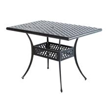 "Weave 56"" x 36"" Rect Gathering Table w/Umb hole"