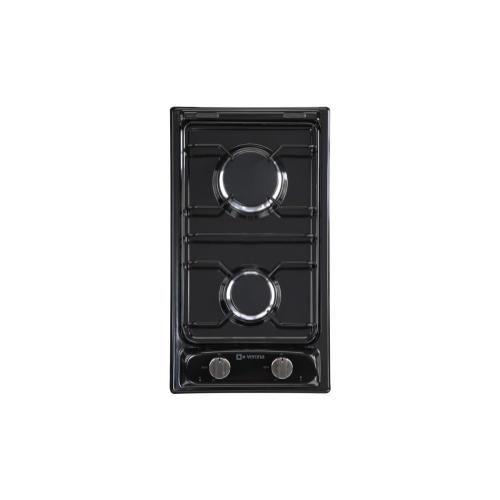 "Black 12"" Gas 2 - Burner"