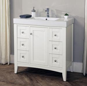 "Shaker Americana 36x18"" Vanity - Polar White Product Image"