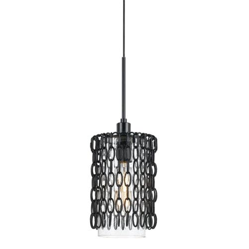 60W Braccino Chainedglass Pendant Fixture (Edison Bulbs Not included)