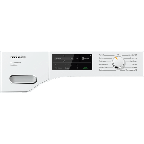 Miele - TXI 680 WP Eco & Steam - T1 Heat-pump tumble dryer with Miele@home and SteamFinish for smart laundry care.