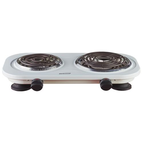 Brentwood - Brentwood TS-361W 1500w Double Electric Burner, White