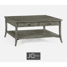 Square Coffee Table in Antique Dark Grey