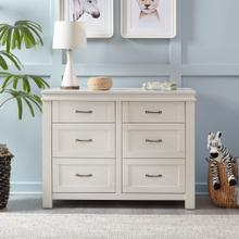 See Details - Heirloom White Wesley Farmhouse 6-Drawer Double Dresser
