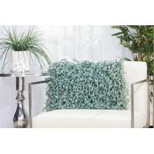 "Shag Dc105 Celadon 14"" X 20"" Throw Pillow"