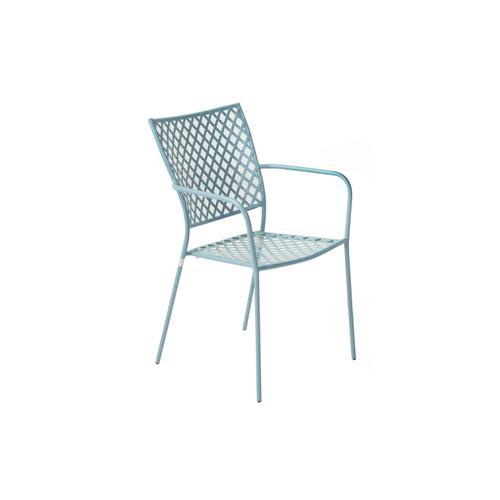Alfresco Home - Martini Iron Stackable Bistro Chair Cielo Blue