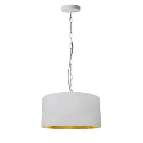 Product Image - 1lt Braxton Small Pendant, Wht/gld Shade, Wht