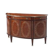 Finely Inlaid Bowfront Side Cabinet