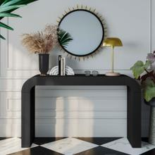 See Details - Hump Black Console Table