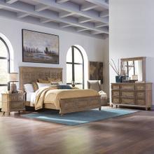 Opt Queen Panel Bed, Dresser & Mirror, Night Stand