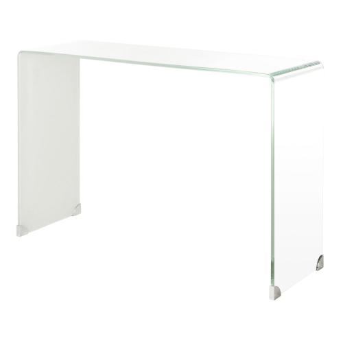Safavieh - Crysta Ombre Glass Console Table - Clear / White