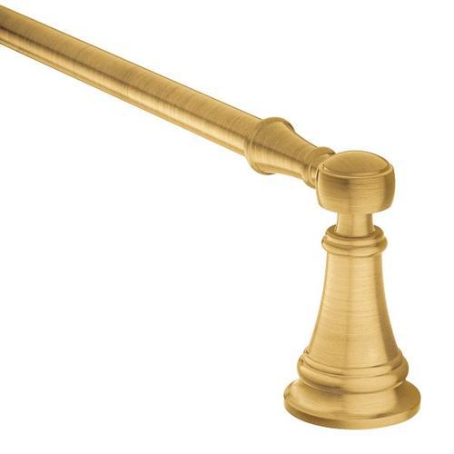 "Weymouth brushed gold 24"" towel bar"