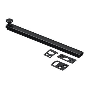 """Deltana - 8"""" Surface Bolt, Concealed Screw, HD - Paint Black"""