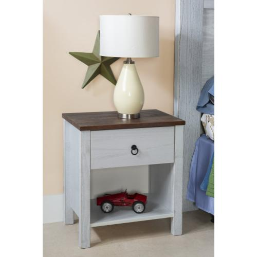 Rustic Two Tone Nightstand