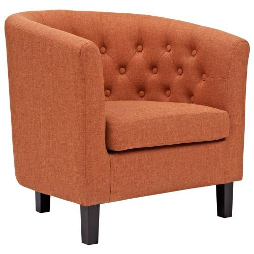 Prospect 2 Piece Upholstered Fabric Loveseat and Armchair Set in Orange