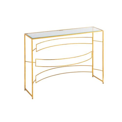 Melrose Narrow Metal Console Table