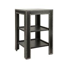 Discoveries Black Nickel Nail Croc Table
