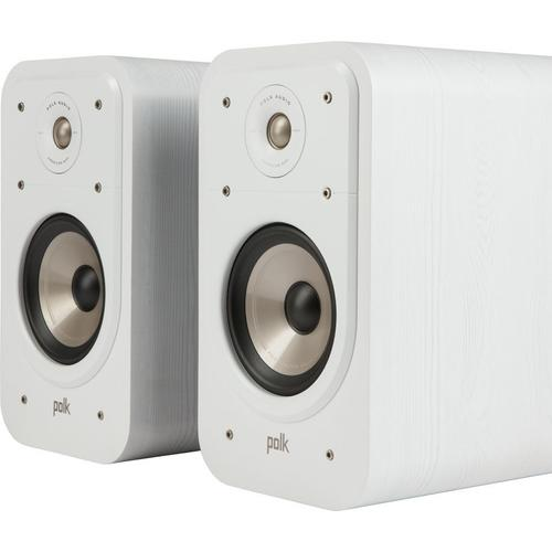 High Resolution Home Theater Bookshelf Speaker in White
