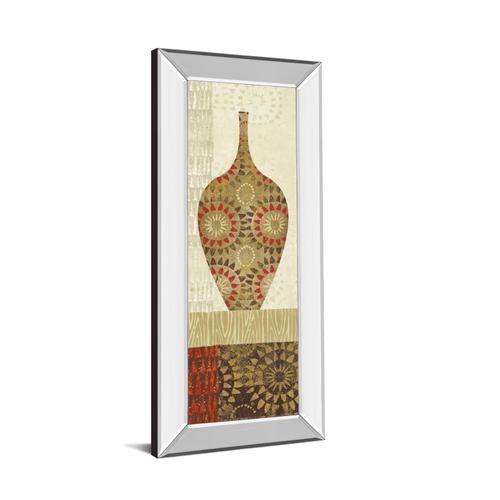"""Spice Stripe Vessels Panel III"" By Wild Apple Portfolio Mirror Framed Print Wall Art"