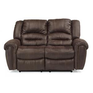 FlexsteelTown Power Reclining Loveseat with Power Headrests