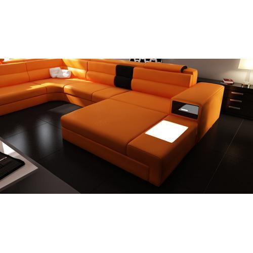 Divani Casa Polaris - Contemporary Bonded Leather Sectional Sofa