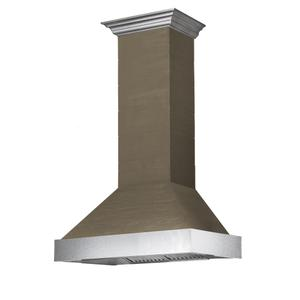 Zline KitchenZLINE Shiplap Wooden Wall Range Hood with Stainless Steel Accent (365YY) [Size: 30 Inch]