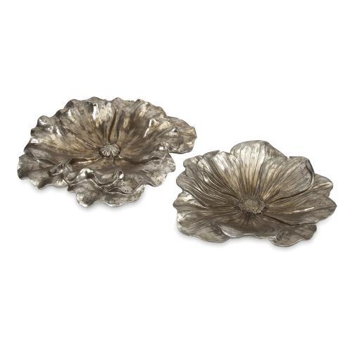 Imax Corporation - Natalia Stick Silver Flowers - Set of 2