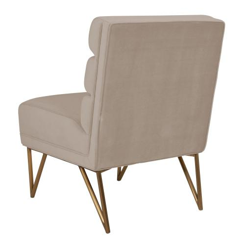 Kelly Slub Cream Velvet Chair