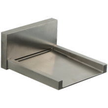 Quarto Wall Mount Open Waterfall Alternative Tub Filler Brushed Nickel