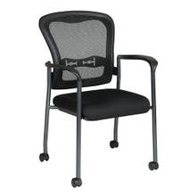 Titanium Finish Visitors Chair With Arms