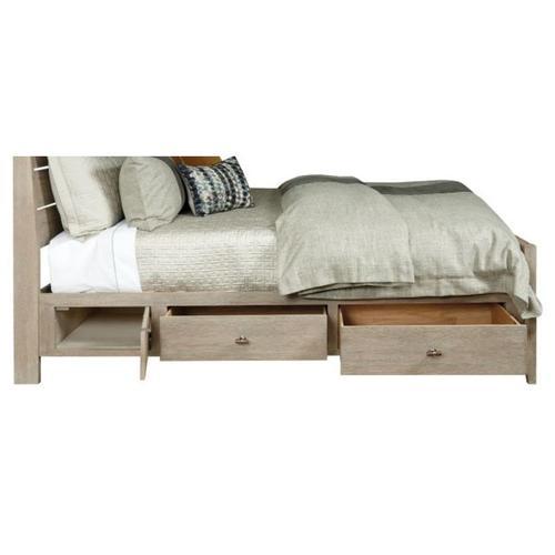 Incline Qn Oak High Bed W/storage Rails - Complete