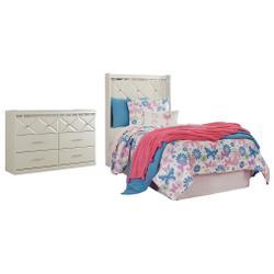 Twin Panel Headboard With Dresser