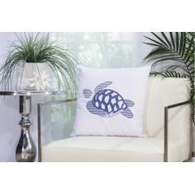 """Outdoor Pillows L1299 White 18"""" X 18"""" Throw Pillow"""