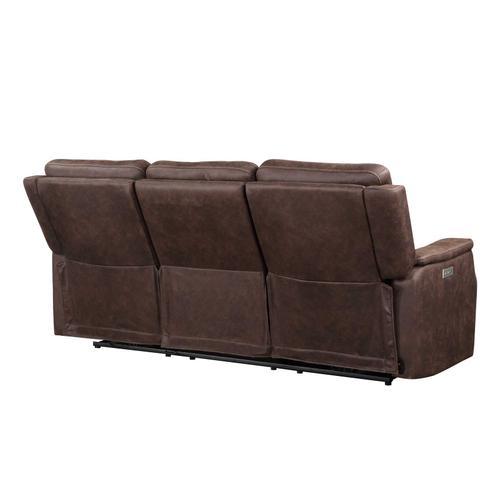 Steve Silver Co. - Valencia Dual-Power Reclining Sofa, Walnut