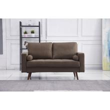 See Details - 8115 BROWN Linen Stationary Loveseat