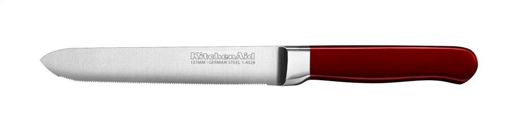 Classic Forged 5.5-Inch Candy Apple Red Serrated Utility Knife