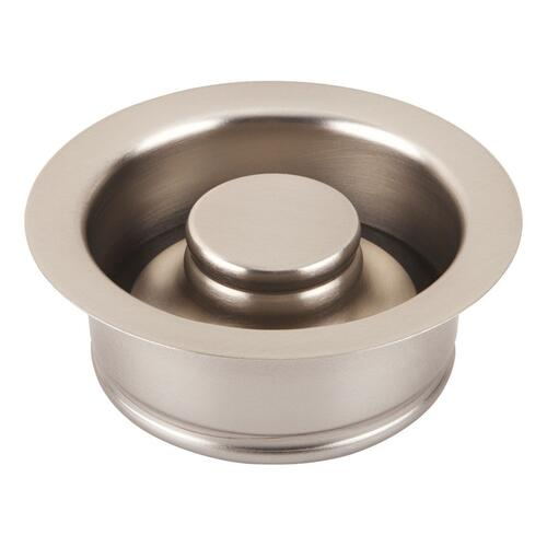 Brushed Nickel Disposal Flange & Stopper