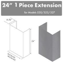 """See Details - ZLINE 24"""" Chimney for 42"""" Under Cabinet Hoods (520/523/527-42-2FTEXT)"""