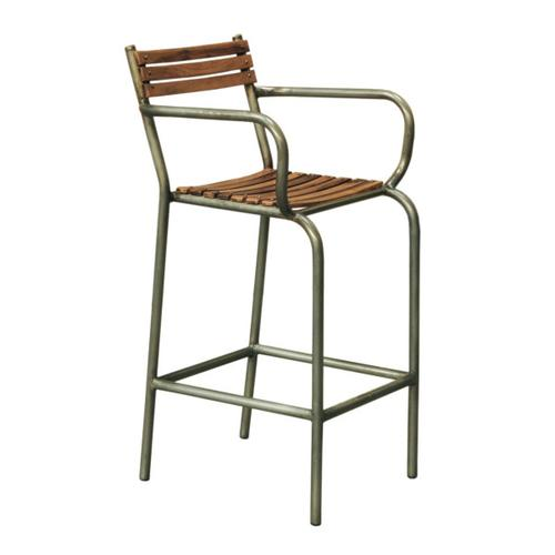 Accentrics Home - Rustic Barclay Wood and Metal Frame Barstool