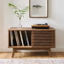 Render Vinyl Record Display Stand in Walnut