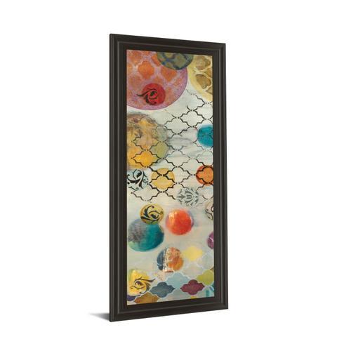 """Classy Art - """"Casa Blanca Panel Il"""" By Jeni Lee Framed Print Wall Art"""