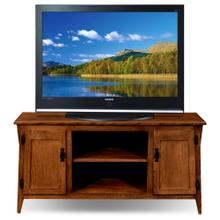 "Mission Oak Two Door 50"" TV Console w/open component bay #82550"