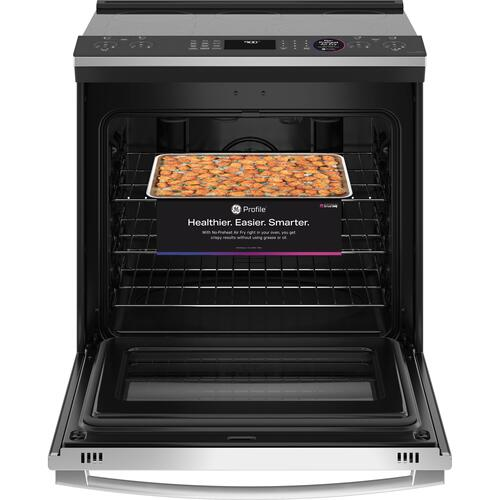 "GE Appliances - GE Profile™ 30"" Smart Slide-In Electric Convection Fingerprint Resistant Range with No Preheat Air Fry"