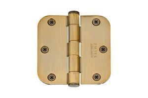 "3-1/2"" x 3-1/2"" 5/8"" Radius Corners Heavy Duty Plain Bearing, Solid Brass Product Image"